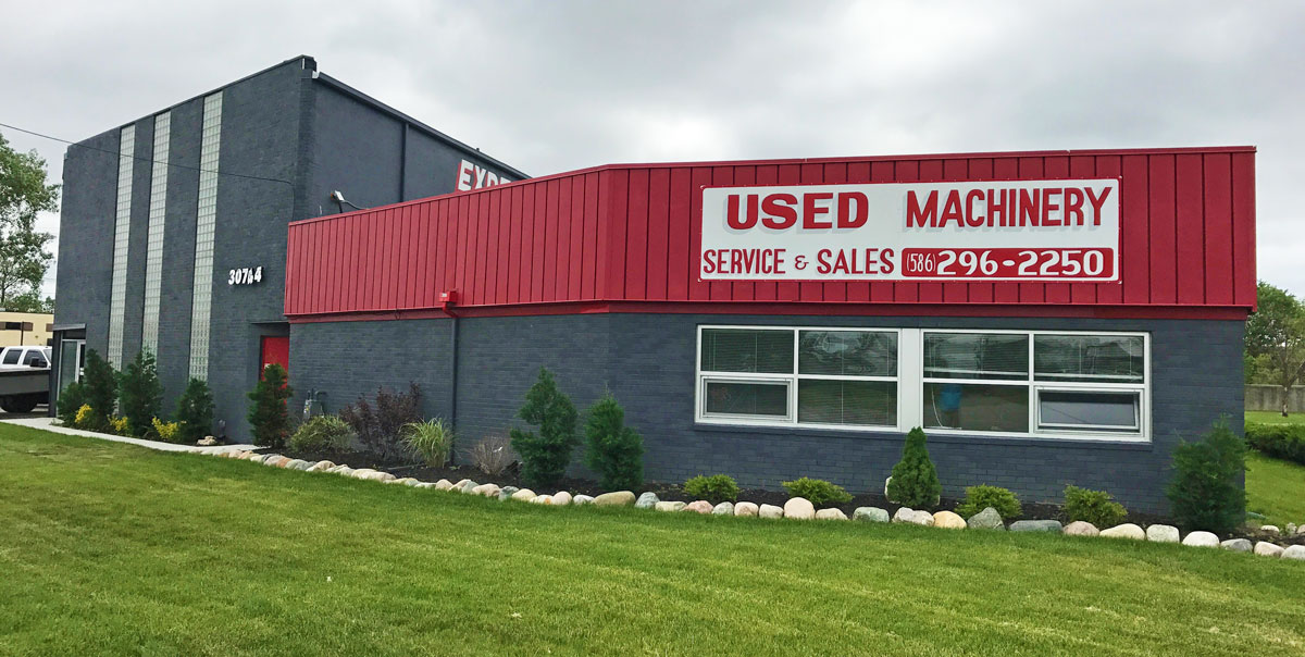 Expert Machine Repair and Sales facility outside