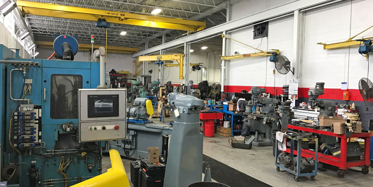 Expert Machine Repair and Sales facility inside